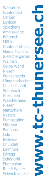 Willst Du alle diese Tauchplätze kennenlernen, dann werde Mitglied im Tauch-Club Thunersee